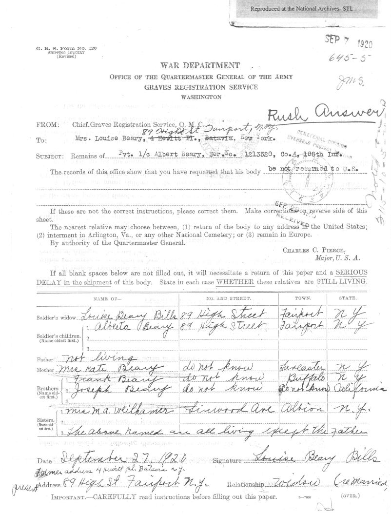 source burial case files records of the office of the quartermaster general record group 92 national archives st louis missouri